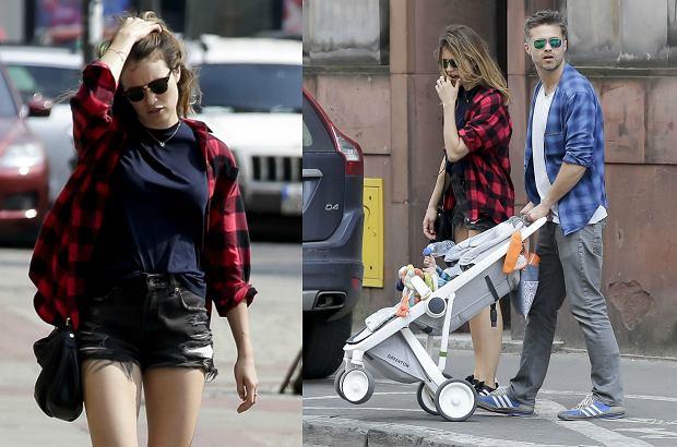 Zdjęcie numer 5 w galerii - Maciej Zakościelny na spacerze z dzieckiem i partnerką. Syn aktora ma piękny wózek. Jest ekologiczny. I NIEDROGI!