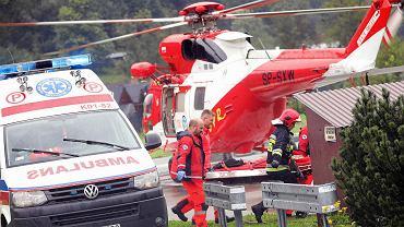 Akcja ratunkowa w Tatrach, 22 sierpnia 2019 roku. Grupa turystów została rażona przez piorun na szczycie Giewontu.