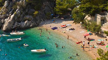 Chorwacja plaże - Punta Rata, Brela