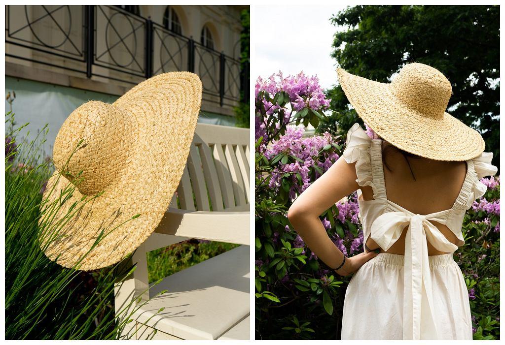 Stylizacja ze słomianym kapeluszem