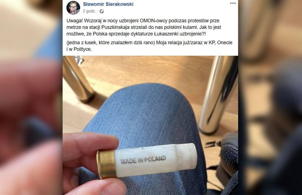 Łuska po protestach w Mińsku