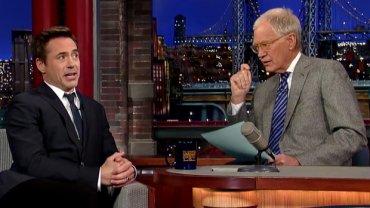 Robert Downey Jr. u Davida Lettermana