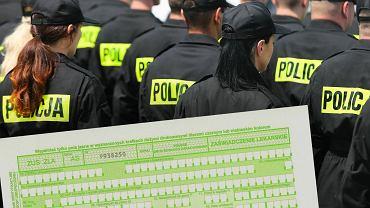 Policjanci w całym kraju idą na zwolnienia. Czy ZUS skontroluje sytuację?