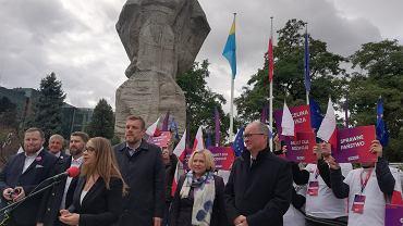 Konferencja Lewicy na pl. Wolności