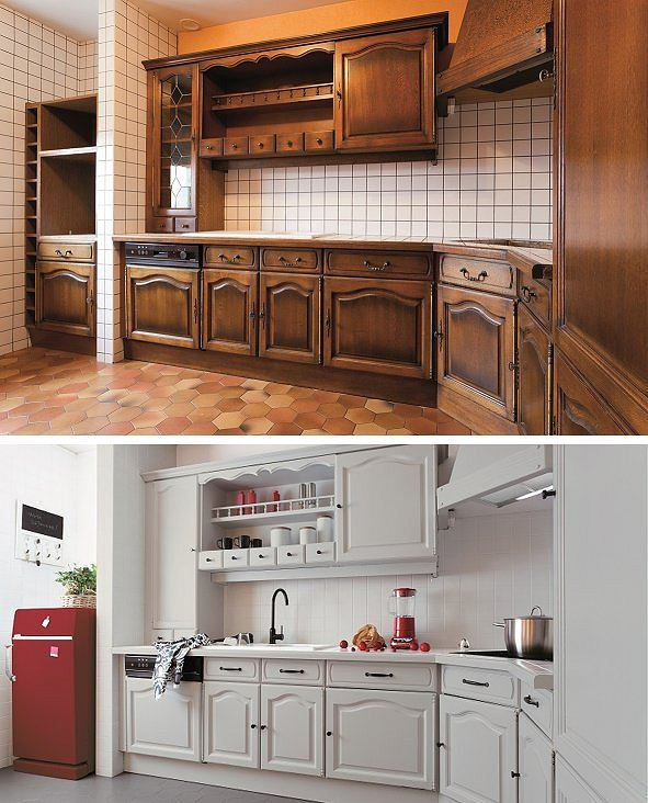 Czasami wystarczy pomalować fronty szafek, aby zmienić wygląd kuchni.