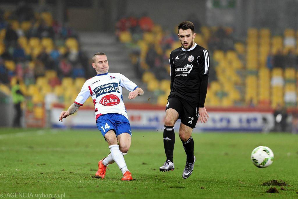 Damian Chmiel w trakcie meczu Podbeskidzie - Bytovia (2:1)