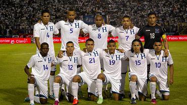 Reprezentacja Urugwaju. Pierwszy z lewej w dolnym rzędzie Oscar Boniek Garcia