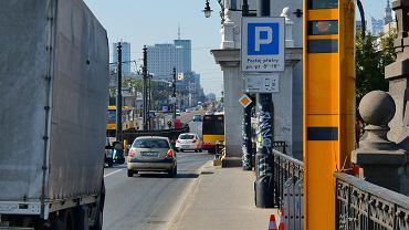 Fotoradary na moście Poniatowskiego w Warszawie
