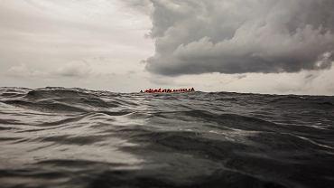 Łódź migrantów u wybrzeży Libii