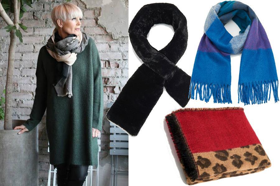 Dodatki na zimę dla dojrzałych kobiet - szaliki