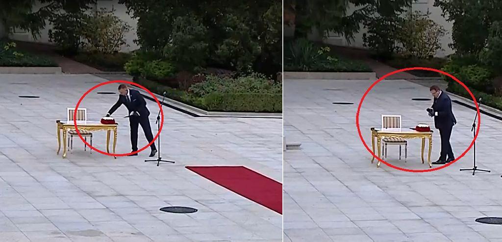 Ministrowie Michał Cieślik i Michał Wójcik odłożyli maski na biurko