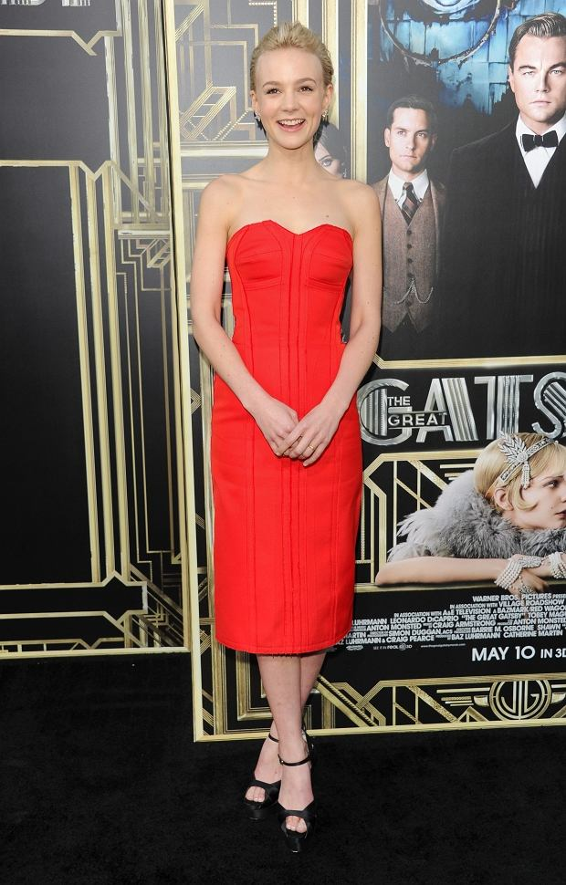 """Actress Carey Mulligan attends """"The Great Gatsby"""" world premiere at Avery Fisher Hall on Wednesday May 1, 2013 in New York. (Photo by Evan Agostini/Invision/AP)"""