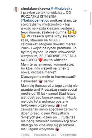 Post Ewy Chodakowskiej