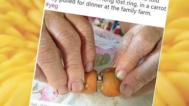 Zagubiony pierścionek znalazła przypadkiem.