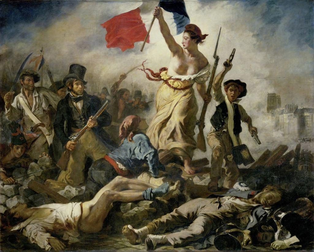 'Wolność wiodąca lud na barykady', 1830 rok, Eug?ne Delacroix / domena publiczna Wikimedia Commons, Erich Lessing / Art Resource, NY /  Artres