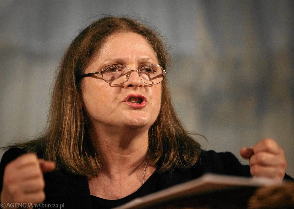 Krystyna Pawlowicz podczas spotkania z wyborcami w Lodzi