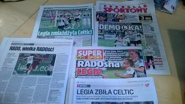 Prasa po meczu Legia-Celtic