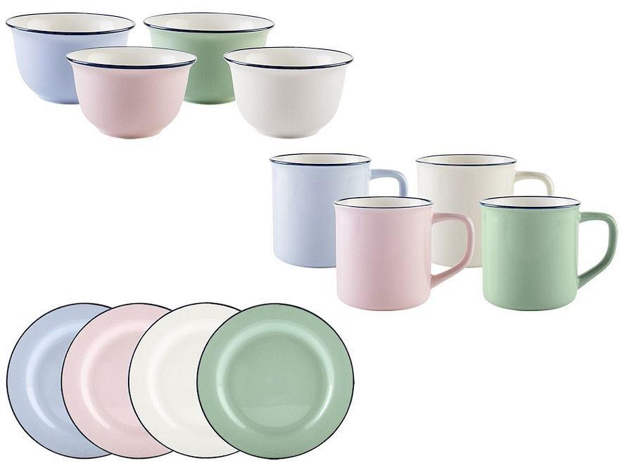 ERNESTO zestaw kolorowych naczyń z porcelany