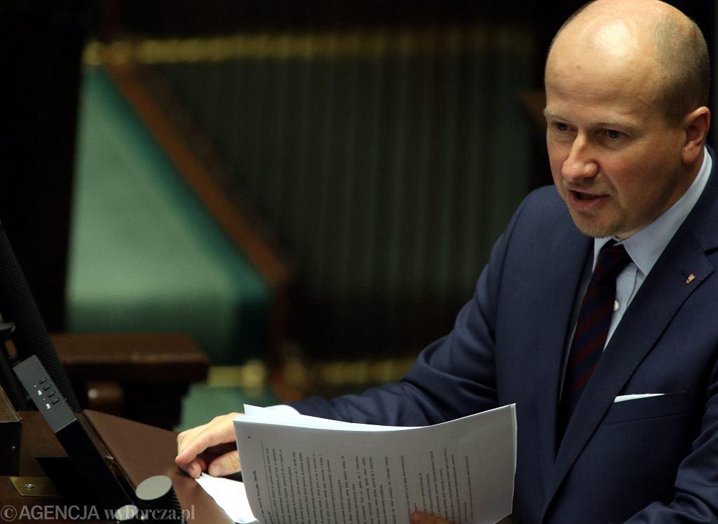 Poseł Bartłomiej Wróblewski z PiS. Od piątku zawieszony w prawach członka partii.