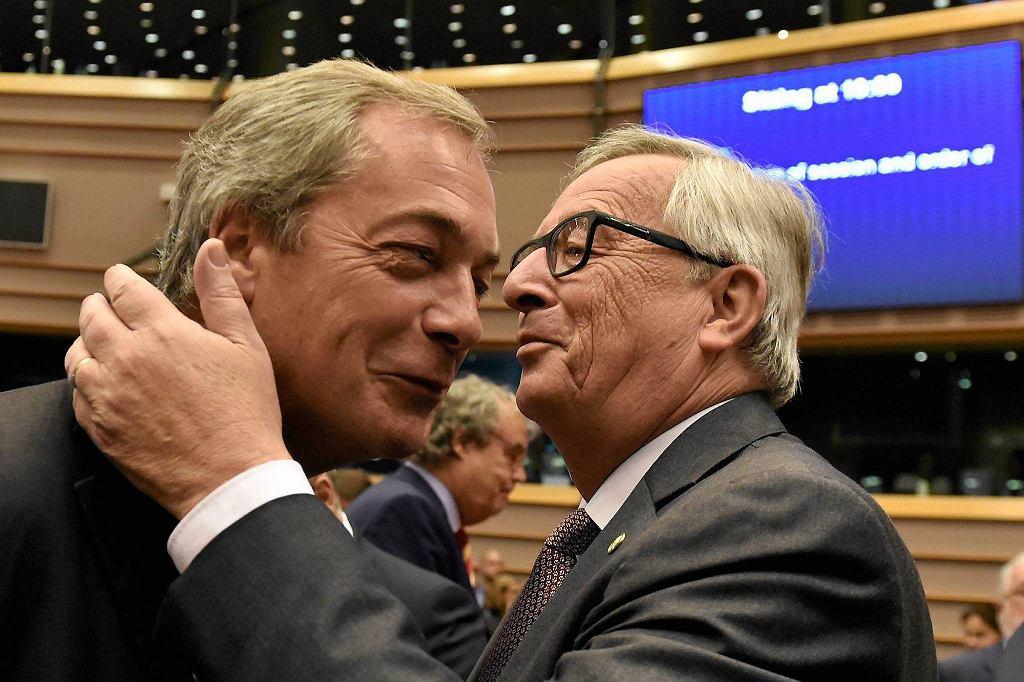 Nigel Farage i Jean-Claude Juncker