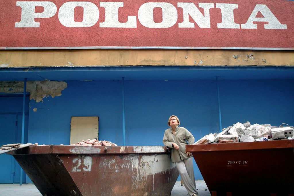 Krystyna Janda podczas budowy Teatru Polonia / ROBERT JAWORSKI