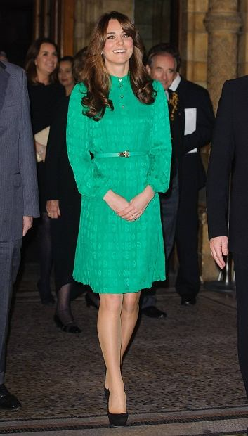 Britain's Catherine, Duchess of Cambridge arrives to officially open the new Treasures Gallery at the Natural History Museum, in central London November 27, 2012.    REUTERS/Dominic Lipinski/Pool     (BRITAIN - Tags: ENTERTAINMENT SOCIETY ROYALS)