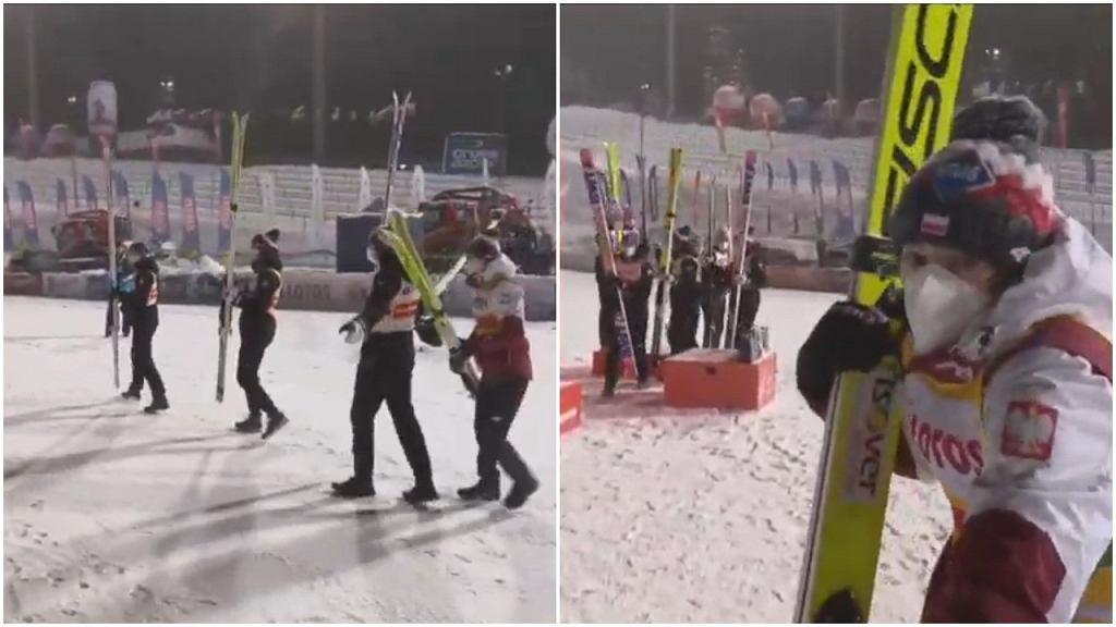 Kamil Stoch pogubił się w trakcie dekoracji po konkursie drużynowym w Zakopanem