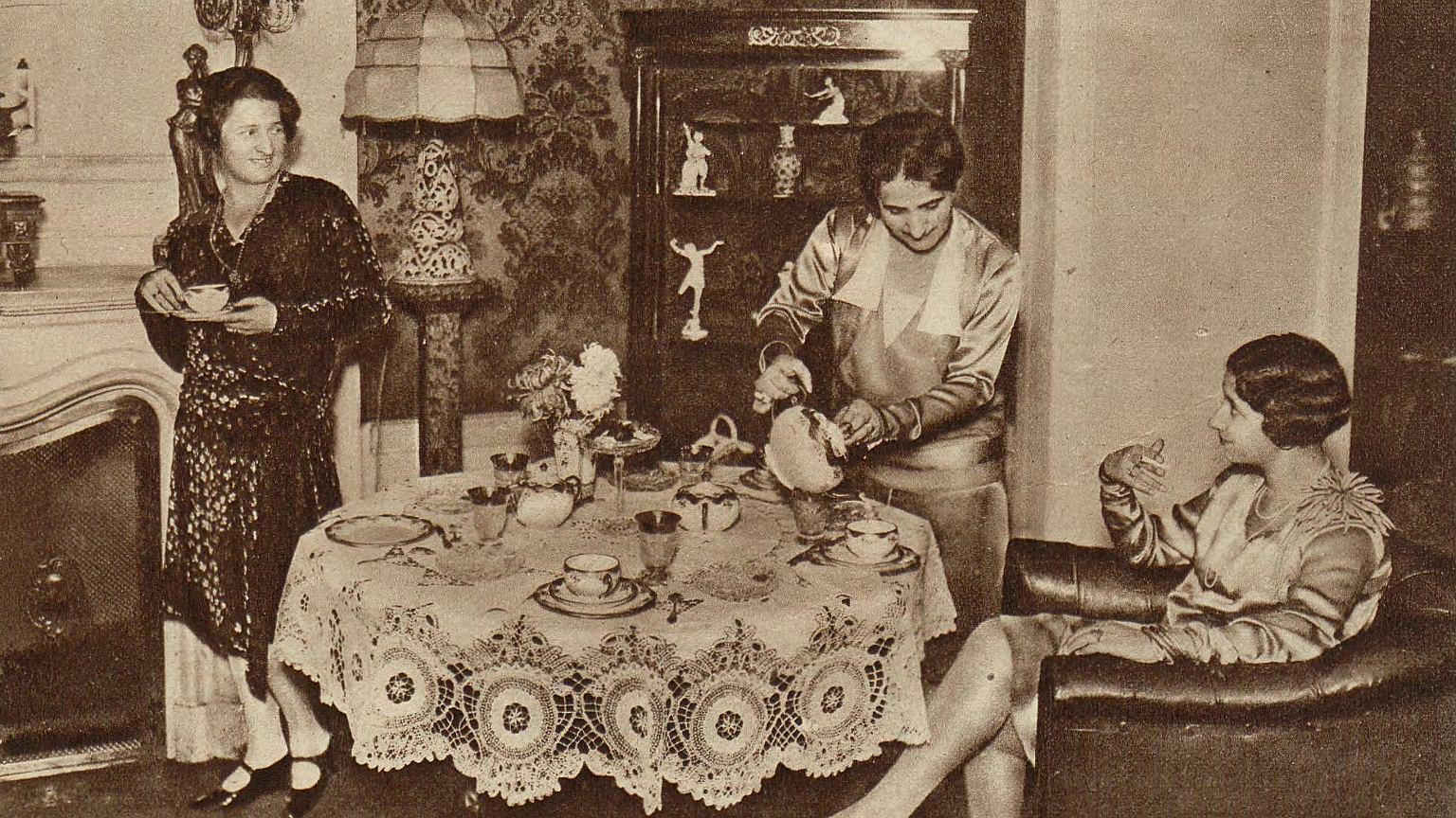 Popołudniowa herbatka, rok 1929