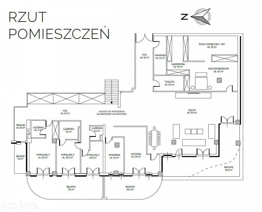 Plan apartamentu Joanny Przetakiewicz