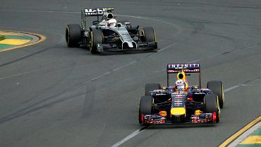 GP Australii 2014. Daniel Ricciardo  i Kevin Magnussen