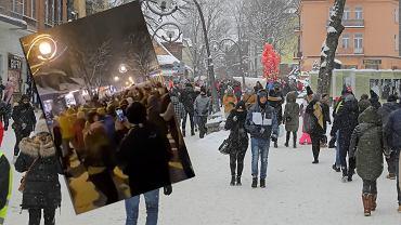 Tłumy w Zakopanem.