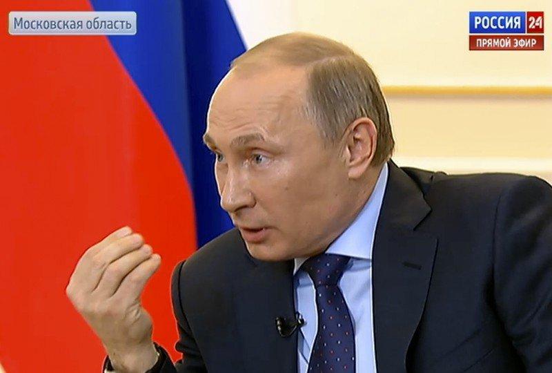 Władimir Putin podczas wtorkowej konferencji prasowej