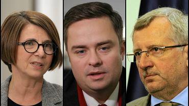 Julia Pitera, Adam Hofman, Marek Siwiec