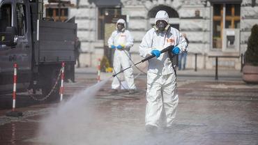 W Bielsku-Białej trwa dezynfekcja miejsc publicznych