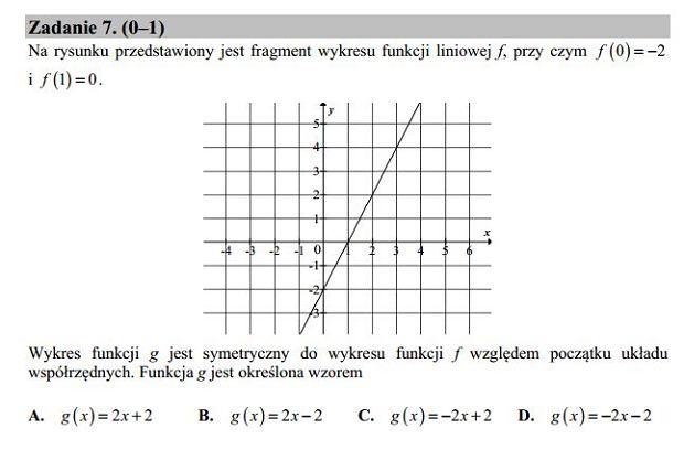 Matura poprawkowa 2016 matematyka, Zad. 7
