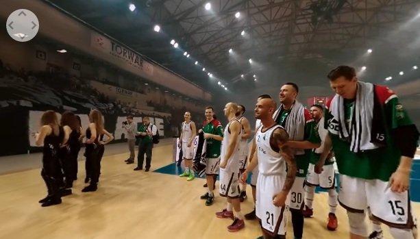 Mecz koszykarzy Legii na Torwarze