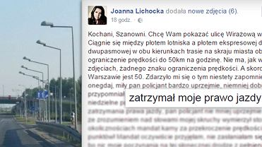 Joanna Lichocka na Facebooku