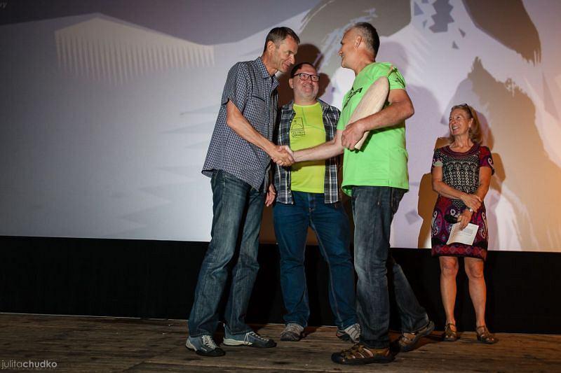 Pavol Barabasz odbiera nagrodę