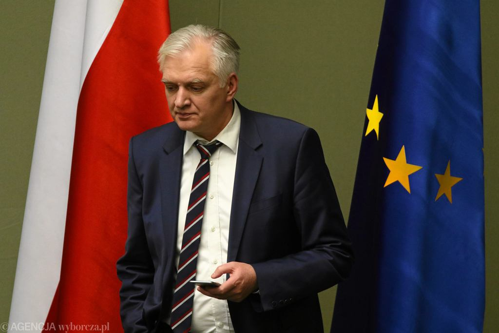 Wicepremier Jarosław Gowin w sejmie.