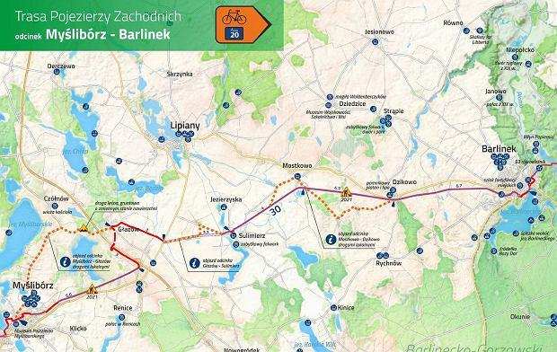 Rowerowa Trasa Pojezierzy Zachodnich nabiera kształtu. Jest umowa na budowę nowych odcinków