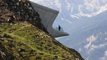 Muzeum zbudowano na szczycie góry Kronplatz