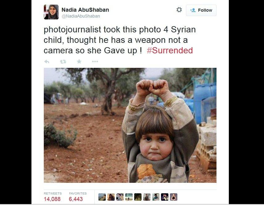Fotografia Osmana Sagirlego, opublikowana na Twitterze przez Nadię Abu Shaban