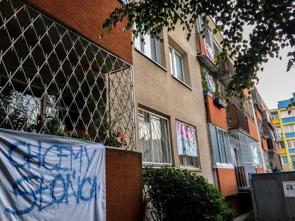 Mieszkańcy ulic Argentyńskiej i Kanadyjskiej protestują