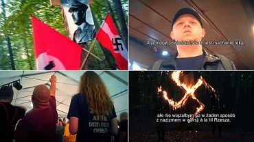 Kadry z reportażu 'Superwizjera' TVN 'Polscy neonaziści'.