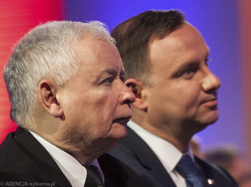 Prezes Jarosław Kaczyński i prezydent Andrzej Duda