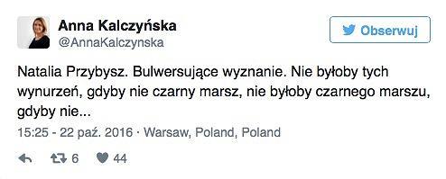 Wpis Anny Kalczyńskiej