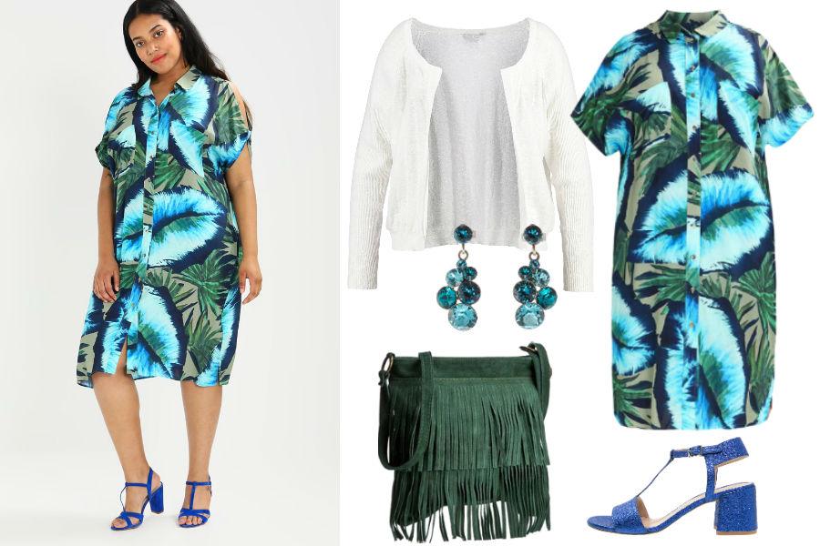 Kolaż Avanti24 / Stylizacja z sukienką koszulową / Materiały partnera