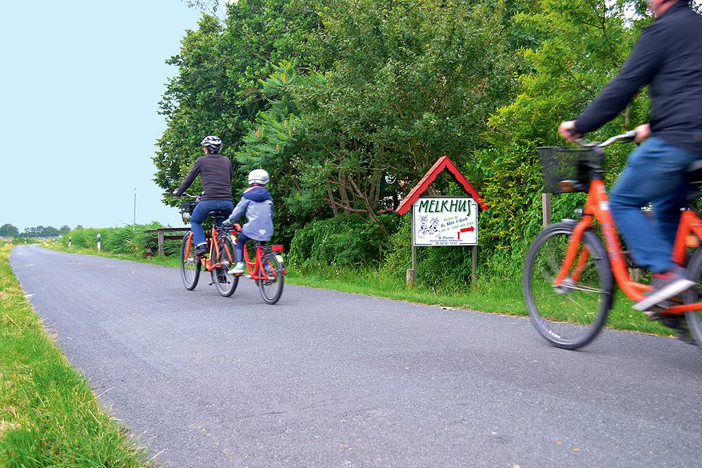 Wesermarsch, Melkhus przy ścieżce rowerowej
