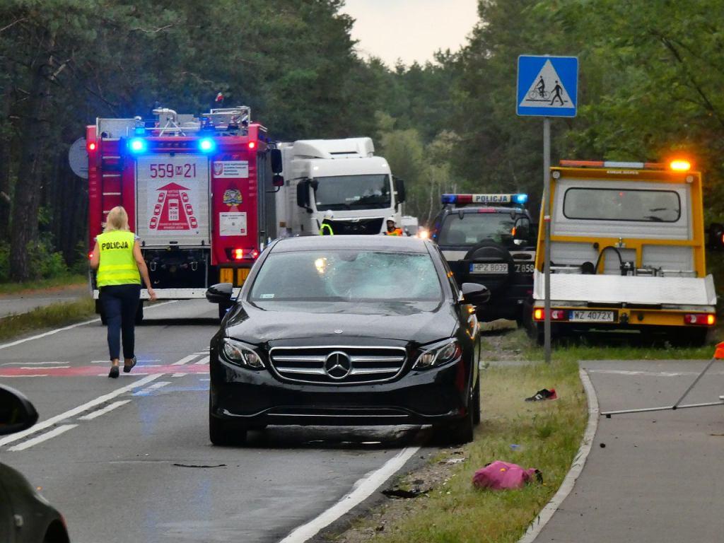 Wypadek na drodze 721 w Otwocku