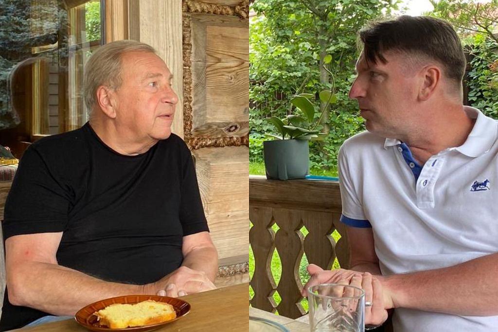 Tomasz Lis i Jerzy Stuhr